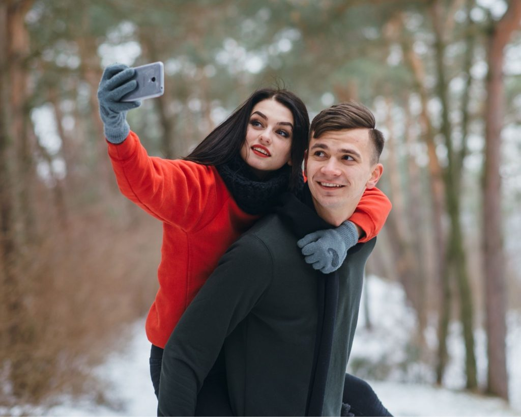 las, para, selfie