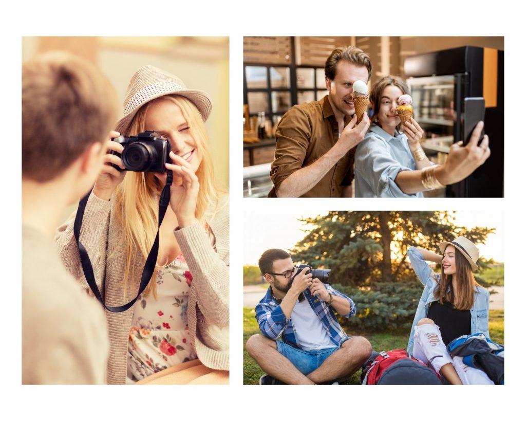 kolaż, zdjęcia pary, jak zachęcić faceta do wspólnych zdjęć